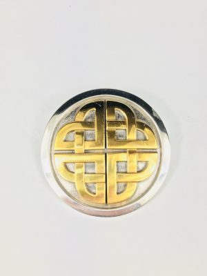 Lee River Celtic Knot Two Tone Belt Buckle