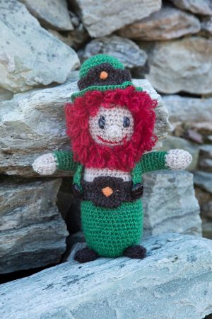 Aran Hand knit Leprechaun Teddy