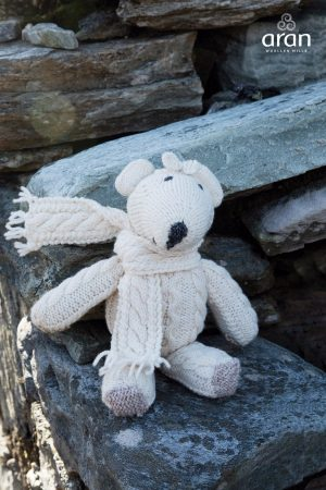 Aran Hand knit Teddy Bear