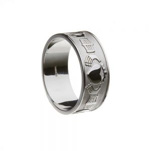 Boru Gents Extra Wide Claddagh Ring