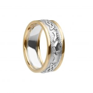 Boru Ladies Claddagh Celtic Knot Ring