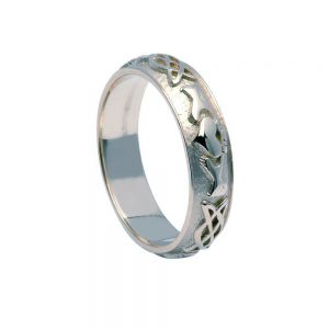 Gents Claddagh Celtic Knot Ring