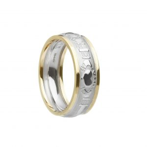 Boru Mens Two Tone Claddagh Ring