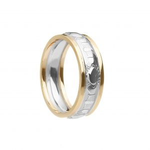 Boru Ladies Two Tone Claddagh Ring