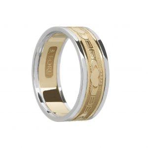 Boru Ladies Yellow & White Gold Claddagh Ring