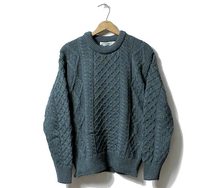 Unisex Green Irish Wool Sweater By West End Knitwear Ireland