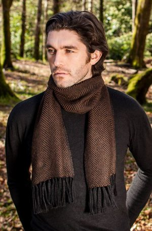 Mucros Alpaca Brown Scarf