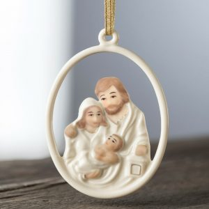 Belleek Nativity Family Ornament
