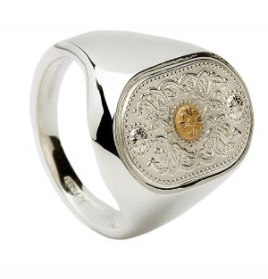 House Of Lor Celtic Shield Signet Ring