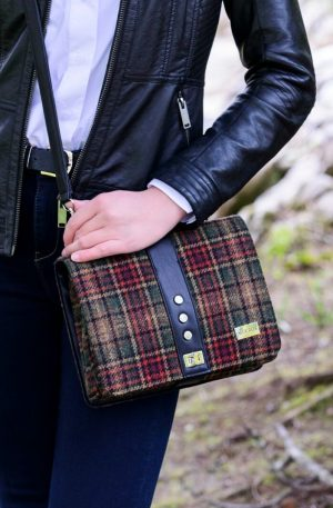 Mucros Weavers Rust Check Fiona bag