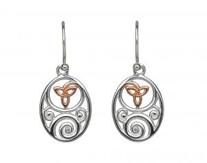 House of Lor Trinity Knot drop Earrings