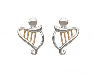 House of Lor Harp Stud Earrings
