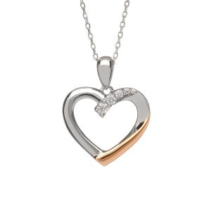House of Lor Silver Gold Heart Necklace