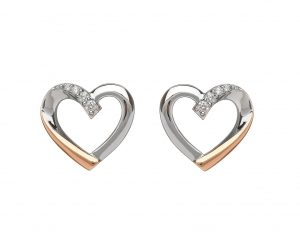 House of Lor Heart Stud Earrings