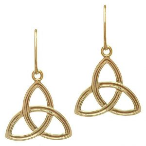 10K Gold Trinity Drop Earrings