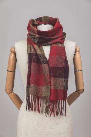 Foxford Lambswool Country Block Check Scarf