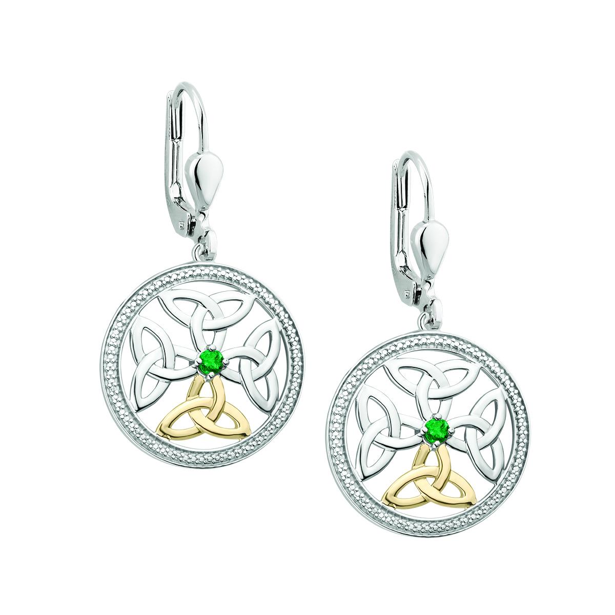 898015fac Solvar Emerald Celtic Knot Earrings - Skellig Gift Store