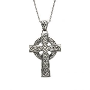 Silver Celtic knot Design Pendant Cross
