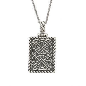 Sterling Silver Celtic Ingot Dog Tag Pendant