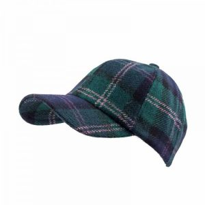 Tartan Tweed Baseball Cap by Hatman