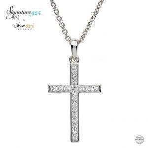 Shanore Silver Swarovski Crystal Cross