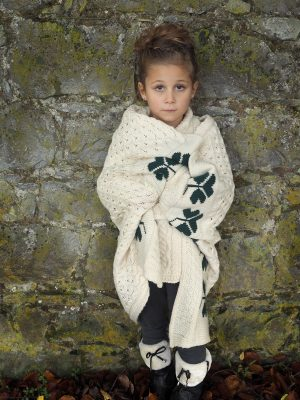 Baby Irish Shamrock Blanket 100% Wool