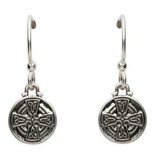 Sterling Silver Celtic Cross Trinity Knot Earrings