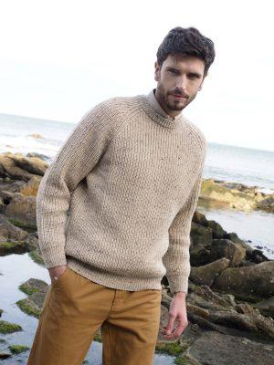 Fishermans Wool Rib Sweater