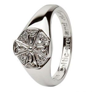 Ladies Celtic Cross Silver Ring