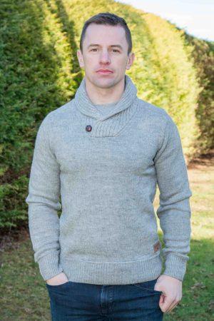 Men's Gray Westport Aran Sweater