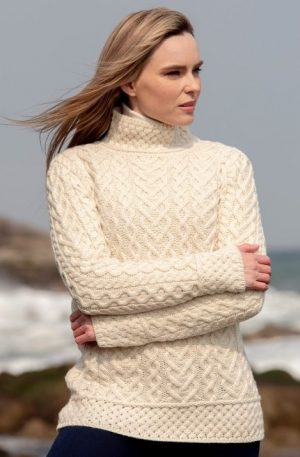 Aran Heart Knit Sweater