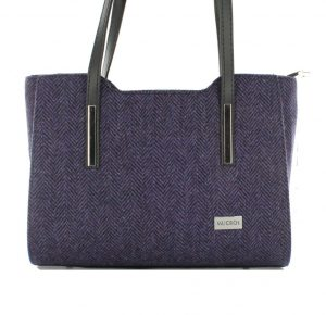 Mucros Purple Tweed Bag