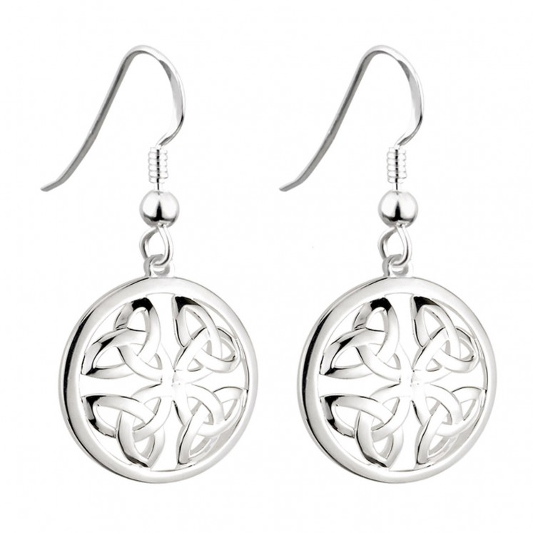 1f07a343d Solvar Sterling Silver Trinity Knot Circle Earrings s33390 - Skellig ...