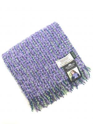 Mucros Purple Mohair Viscose Scarf