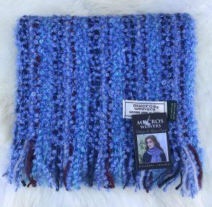 Mucros Blue Mohair Viscose Scarf
