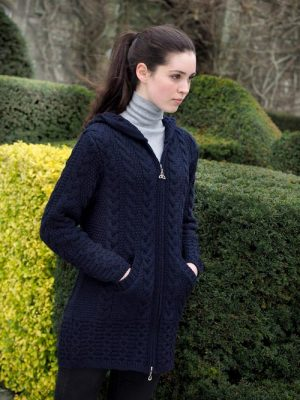 Aran Coat With Celtic Knot Zipper Hd4025