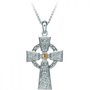 Boru Celtic Warrior Silver Medium Cross