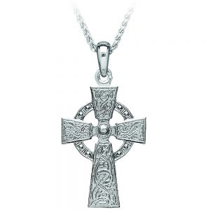 Boru Large Celtic Warrior Silver Cross