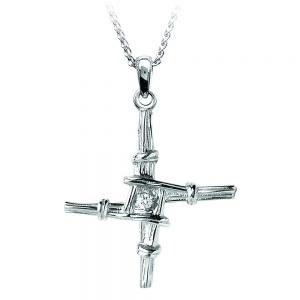 Boru Small St. Brigid Diamond Cross