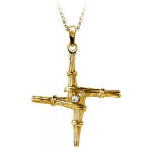 Boru Medium St Brigid Diamond Cross