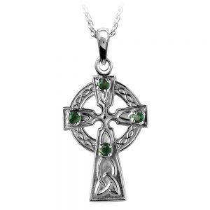 Boru Irish Celtic Emerald Cross