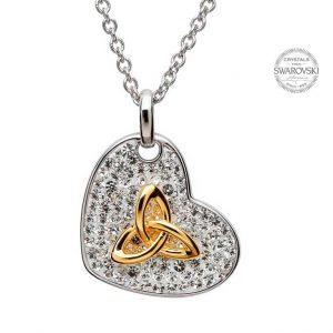 Trinity Necklace Encrusted With Swarovski Crystals