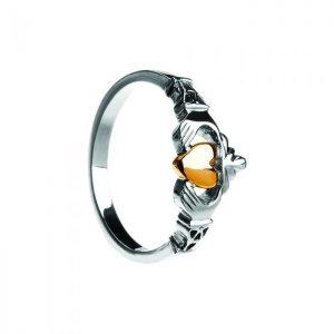 Boru Ladies Trinity Claddagh Ring