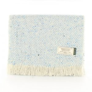 Mucros Blue Tweed Scarf