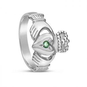 Boru Emerald Set Claddagh Ring
