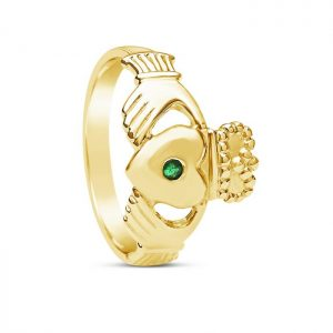 Boru Gents Emerald Claddagh Ring