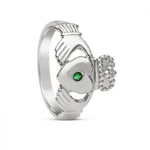 Boru Gents Emerald Claddagh Ring