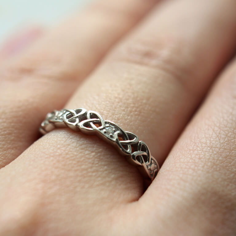 Shanore Women s Silver Celtic Knot Band-Skellig Gift Store 5d607f755