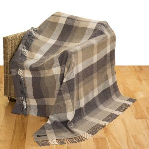 John Hanly Brown Cashmere Blanket 1413