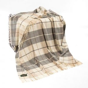 Lambswool Irish Blanket Throw John Hanly 629
